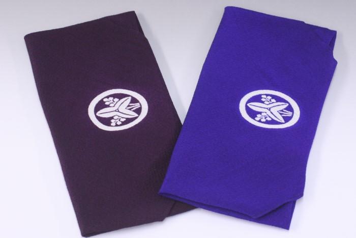 家紋入り手ふくさ「古代紫」と「江戸紫」