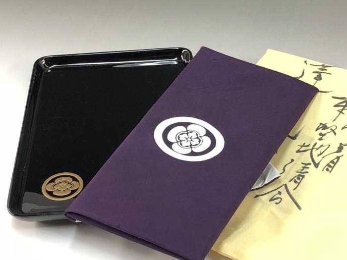 輪島切手盆と袷ふくさ45cm