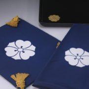 家紋「剣片喰」切手盆3点セット