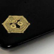 家紋「六角三羽雀」の切手盆