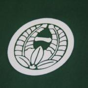掛袱紗(松葉)丸に上り藤に一の字