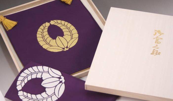 綴の掛袱紗、家紋面の地色は「紫」も可能