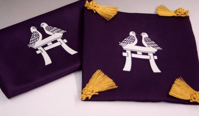 切手盆セツト【黒古代紫】