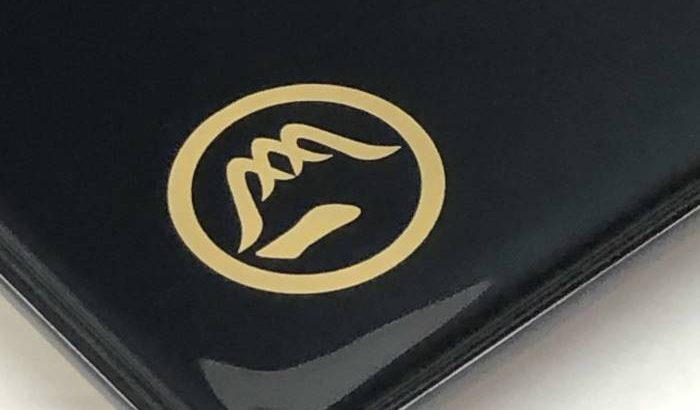 家紋「富士山に一の字」の切手盆