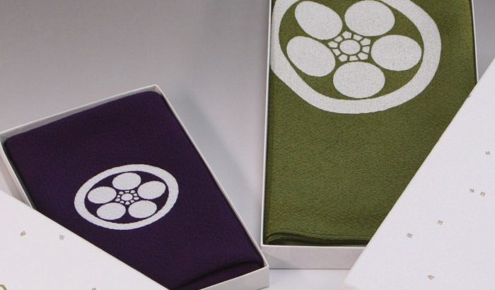 袱紗の色「古代紫」と「利休」